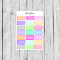 BLANK Half Box Planner Stickers perfect for Erin Condren, Kikki K, Filofax, Plum Paper Planners #0008