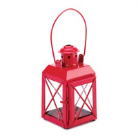 Mini Crisscross Candle Lamp Red