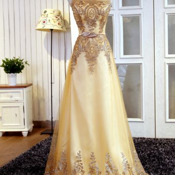 The new evening dress long style double shoulders party hostess performance dress homecoming dress