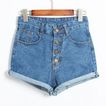 Short Crochet  Jeans Fashion Brand Summer Style Women Shorts Loose Cotton Casual Female Slim High Waist Denim Shorts