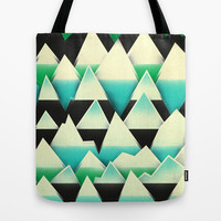 Ice Mountains Tote Bag by Amelia Senville