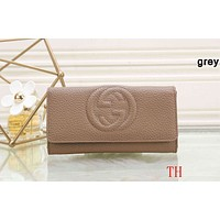 GUCCI 2018 counter models women's exquisite fashionable clutch F-OM-NBPF grey