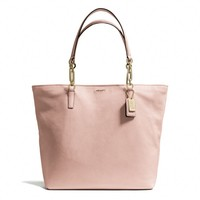 MADISON NORTH/SOUTH TOTE IN LEATHER