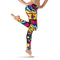 Comic Palooza Print Leggings - Urban Groove