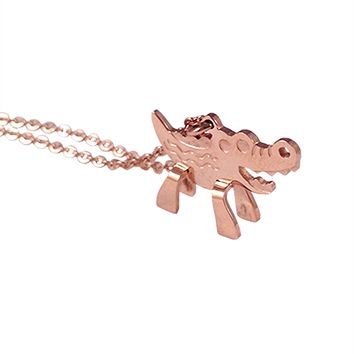 Alligator Big Bite Necklace