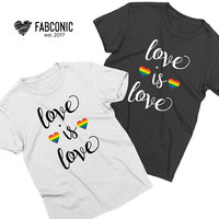 Love is Love Shirt, LGBT shirts, Couples shirts, Love is Love matching couples shirts, Gay Pride Shirts, Pride Shirts, Love is love tshirts