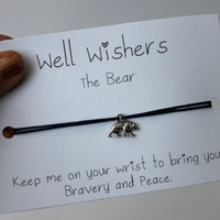 The Bear - Bravery and Peace  Well Wisher Charm Bracelet Jewelry