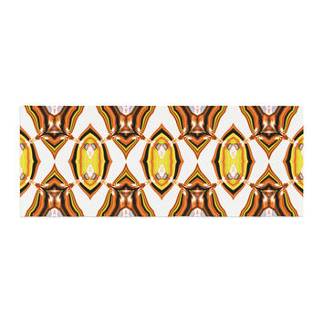 "Dawid Roc ""Inspired By Psychedelic Art 1"" Orange Pattern Bed Runner"