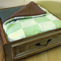 Pet Bed - Upcycled Pet Bed - made from Vintage Drawer and Sweaters - Cat Bed - Dog Bed - Repurposed Pet Furniture