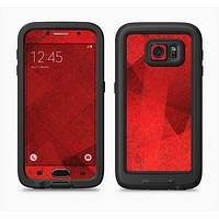 The Dark Red with Translucent Shapes Full Body Samsung Galaxy S6 LifeProof Fre Case Skin Kit