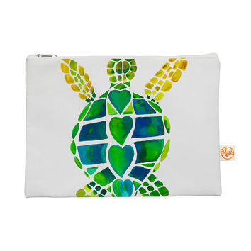 """Catherine Holcombe """"Turtle Love"""" Green Teal Everything Bag"""