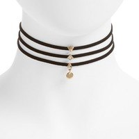 Topshop 3-Pack Shape Charm Chokers | Nordstrom