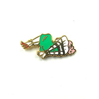 All Tied Up Enamel Lapel Pin