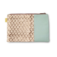 Lucite Leather Carryall Clutch