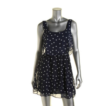 B. Darlin Womens Juniors Polka Dot Layered Casual Dress