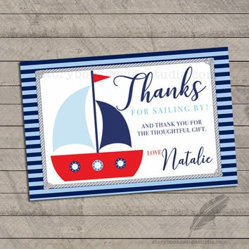 Nautical Baby Shower Thank You Cards