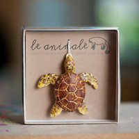 Sea Turtle Ornament Animal Ornaments by leanimale on Etsy