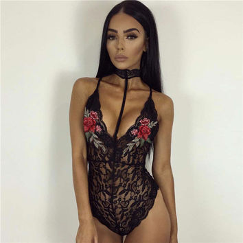 On Sale Cute Hot Deal Sexy Slim One-piece Scarf Spaghetti Strap Deep V Sleeveless Exotic Lingerie [9940085955]