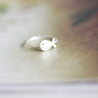 Sterling Silver Whale Ring