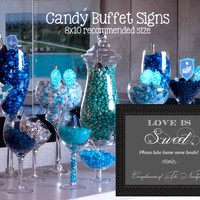 Love is Sweet Sign Printable // Candy Bar Buffet // Personalized