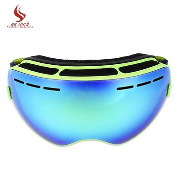 Be Nice Double Lens UV400 Anti-Fog Big Spherical Skiing Glasses Snow Goggles Skiing Eyewear Snowboarding Goggle Ski Sport