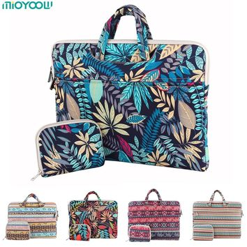 Fashion Laptop Bag for MacBook Air Pro 13 11 15 15.6 inch Canvas PC Notebook Case Laptop Sleeve Handbag for woman man Computer
