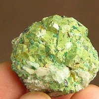 New! 47g RARE GREEN Kesterite(Pandaite) Crystal Clusters with Calcite
