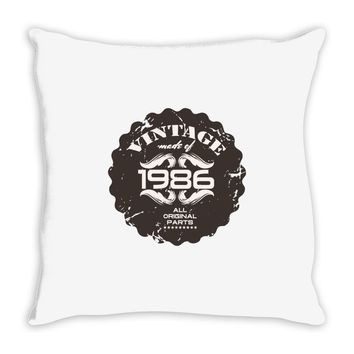 vintage made of 1986 all original parts Throw Pillow