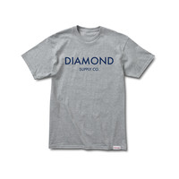 Diamond Classic Tee in Heather Grey