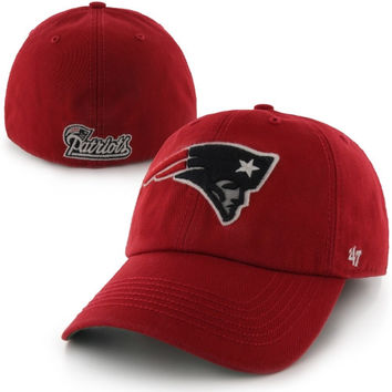 New England Patriots '47 Brand Franchise Fitted Hat – Red