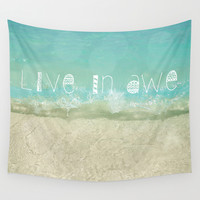 Live In Awe Wall Tapestry by Jenndalyn