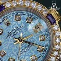 Rolex 36mm Datejust Watch Ice Blue Jubilee Dial with Sapphire & Diamond Bezel