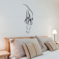 Horse silhouette wall decal, wall sticker, decal, wall graphic , living room decal, bedroom decal, vinyl decal in black, vinyl graphic decal