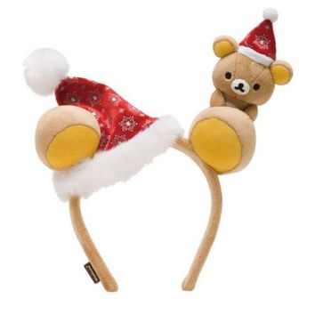 New San-X Rilakkuma 2015 Xmas Headband Plush Doll Stuffed Toy Kawaii Cute JAPAN