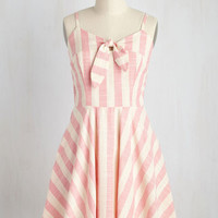 Sunny How That Works Dress in Pink Stripes
