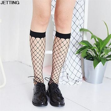Harajuku Goth Punk Medium Height Fishnet Socks