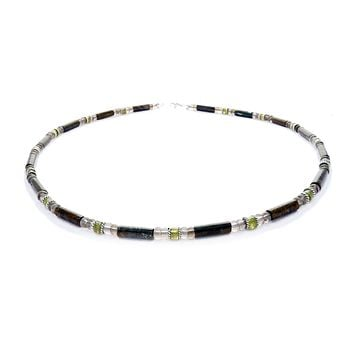 DAMALI Mens Chakra Necklace, Garnet Gemstone Necklace, Handmade Jewelry for Men, Guys, Dads, Him - Jewels for Gents