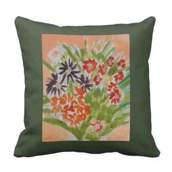 Joyful Bouquet Throw Pillow