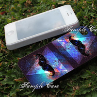 Mustache Triangle Nebula Customized cellular case for iPhone 4/4S, iPhone 5/5S/5C, Samsung Galaxy S3 and S4, ipod 4 and ipod 5