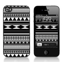 Cool Black and White Geometry Hard Cover Case For Iphone 4/4s
