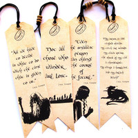 J.R.R. Tolkien quotes Bookmarks, Set of 4 pieces BOOKMARKS, Great gift for fans of creativity J.R.R.Tolkien, Bookmark Hobbit