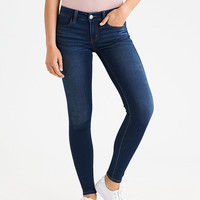AEO Denim X Super Low Jegging, Dark Wash