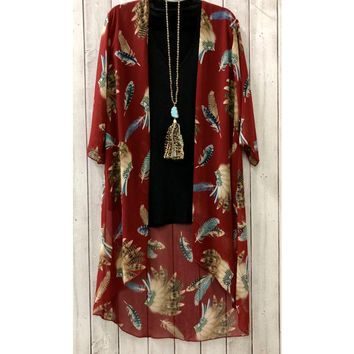 Red Sheer Duster One Size ZZ