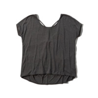 Boxy Strappy Back Tee
