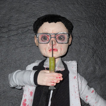 OOAK Re-Animator Herbert West Art Doll Classic Horror Film H.P. Lovecraft