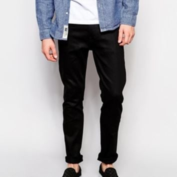 Weekday Jeans Friday Skinny Fit Black at asos.com