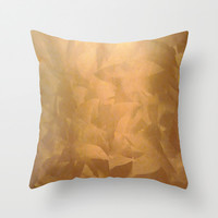 Brushed Copper Metallic Throw Pillow by Corbin Henry