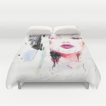 Heavenfaced Duvet Cover by Charmaine Olivia