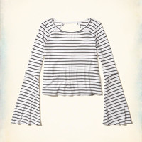 Girls Open Back Bell-Sleeve Top | Girls Tops | HollisterCo.com