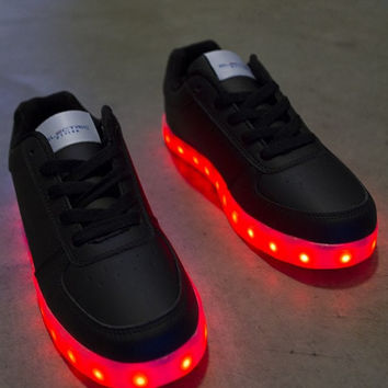 Light Up LED Shoes - All Black (Women's)
